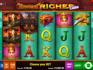 Игровое поле Ancient Riches Casino