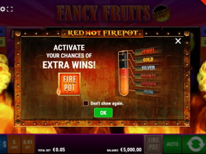 Бонуска Fancy Fruits Red Hot Firepot
