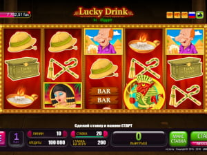 Игровое поле Lucky Drink In Egypt