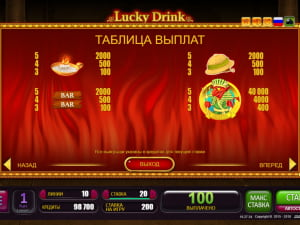 Выплаты Lucky Drink In Egypt