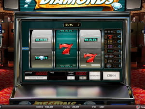 Игровое поле Respins Diamonds