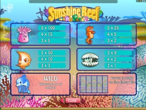 Выплаты Sunshine Reef